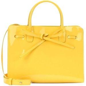 New Mansur Gavriel Sun Tote Yellow Patent Leather